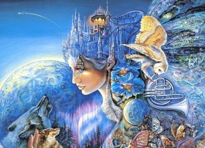 Blauw - De kleur van water. Blauw staat voor vrede, rust, harmonie, dromen, intuïtie, overgave en genezing. Blauw is de kleur van emoties. Het is een vriendelijke kleur die verkoelend en kalmerend werkt.  Een teveel aan blauw maakt conservatief en  depressiegevoelig (emoties). De kleur van de vijfde chakra, je keelchakra; communicatie als aandachtspunt. Blauw is de door de meeste mensen gekozen lievelingskleur. Blauw is de tegenhanger van rood; water en vuur!