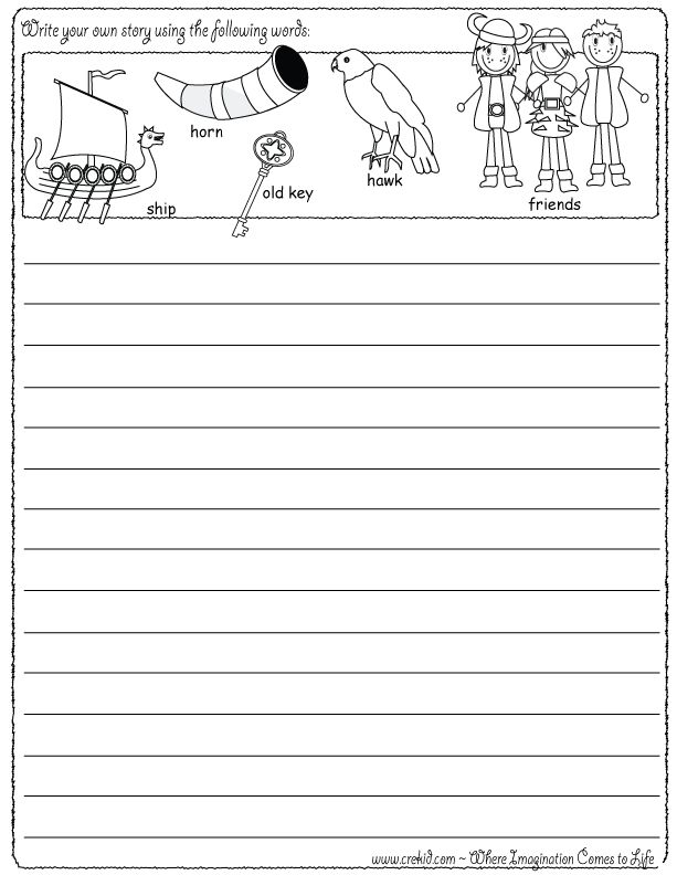 How to write a story for kindergarten