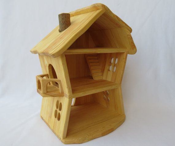 Handmade wooden forest dollhouse  House consists of by Sukhanov