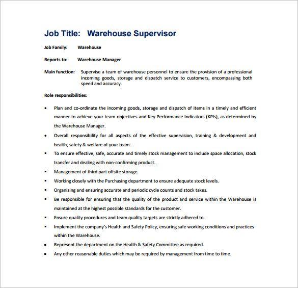 Google Docs Word Free Premium Templates Job Analysis Warehouse Jobs Job Description