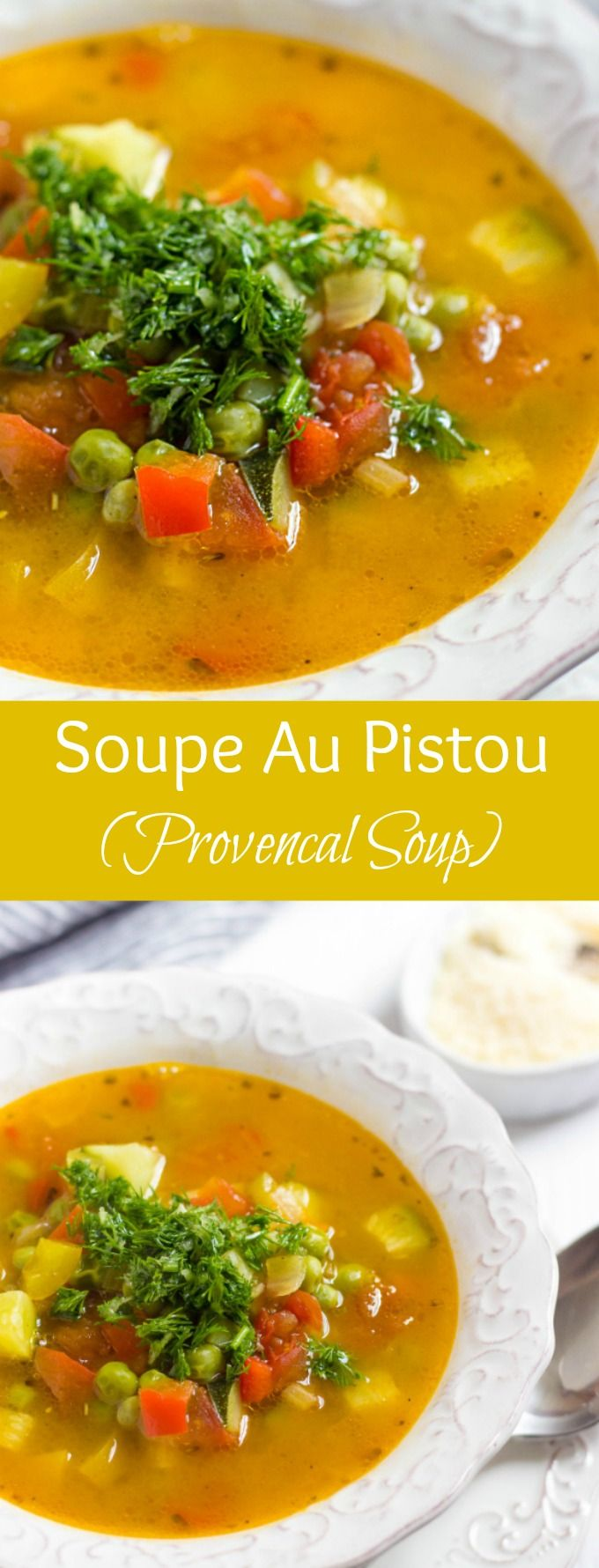 This classic French vegetable soup is BURSTING with flavor and so easy to make. Soupe Au Pistou is healthy and delicious soup you'll love.