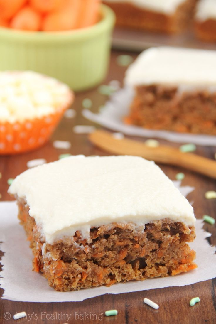 An easy no-mixer-required recipe for lightened up Classic Carrot Cake. The BEST one I've ever had!