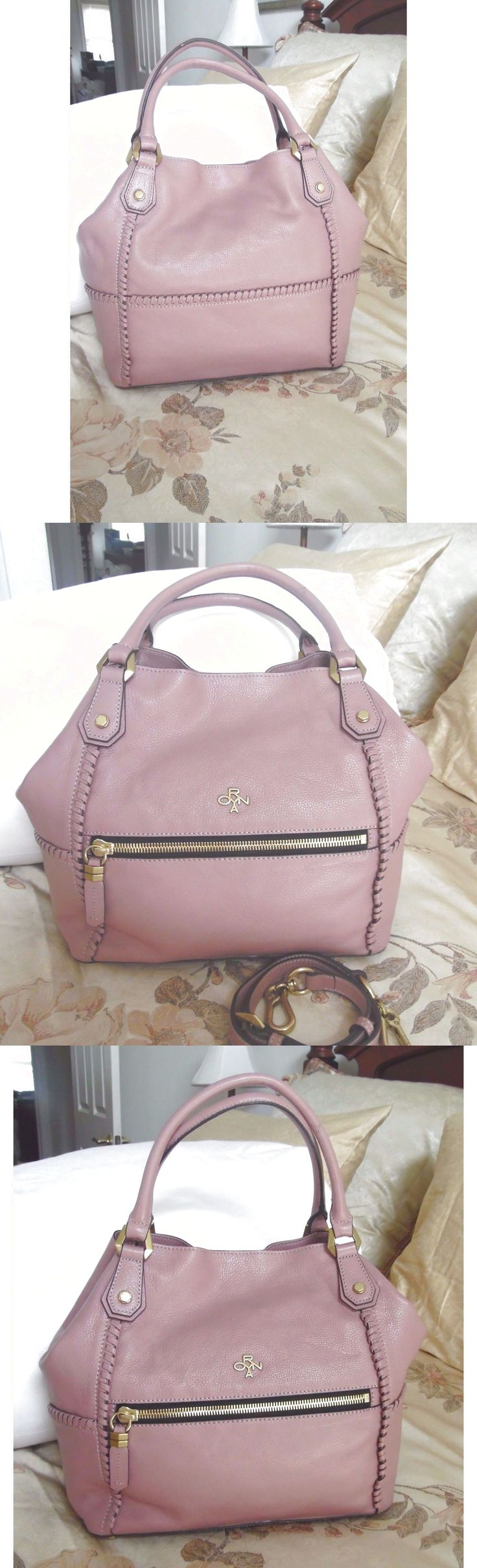 "orYANY Pebble Leather Satchel - Drew  ""Mauve""  NWT $122.9"