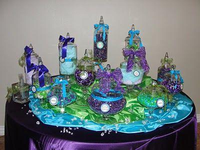 Purple And Blue Torquoise Weddings Reception Pop