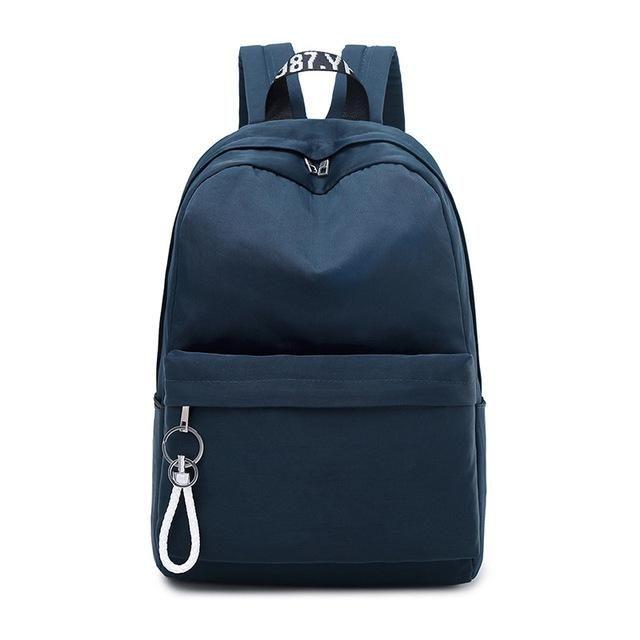 4ac93d6143e0 black Backpack Women Teenage Girls Schoolbag Big College Students ...