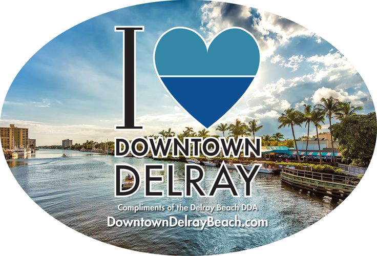 """Delray Affair Shopping Promotion  """"I <3 Downtown Delray"""" Sticker Promotion: The Downtown Delray Merchants Welcome the Delray Affair Attendees! From April 8 - 10, 2016, the DDA has created a """"gift with purchase"""" promotion via the downtown merchants. Customers will receive a special edition """"I <3 Downtown Delray"""" sticker when they make a purchase in a downtown shop, salon or spa during the Delray Affair (Friday, April 8 - Sunday, April 10)."""