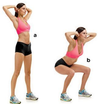 Prisoner squats: best cellulite reduction exercises for thighs, buttocks and legs.