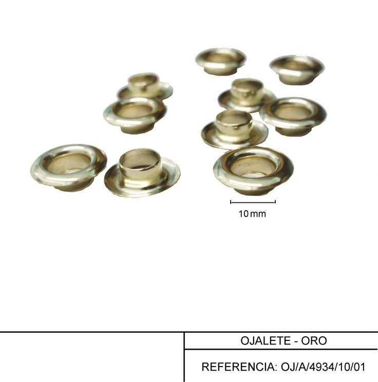 Ojaletes de 10 mm en oro