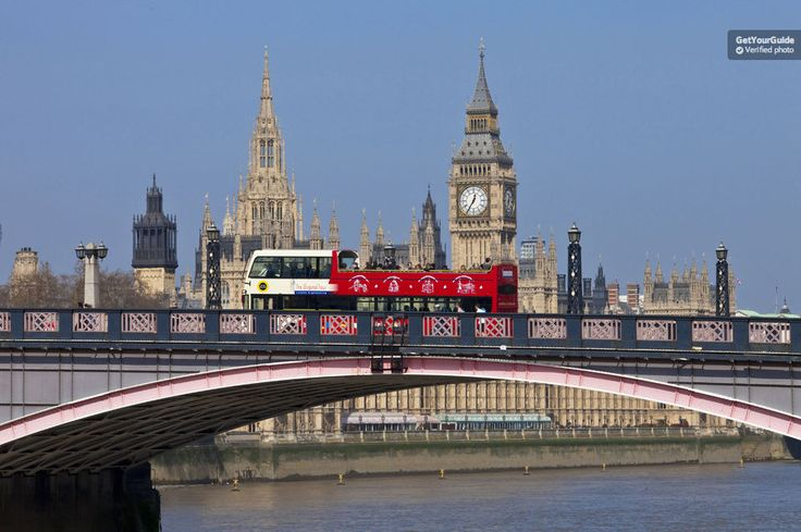 See the capital's top attractions with London's Original Hop-on Hop-off Bus Tour. Stop by Buckingham Palace, Westminster, Piccadilly Circus, London Eye, Tower of London, the River Thames and much more. Get free walking tours and a Thames River Cruise Pass