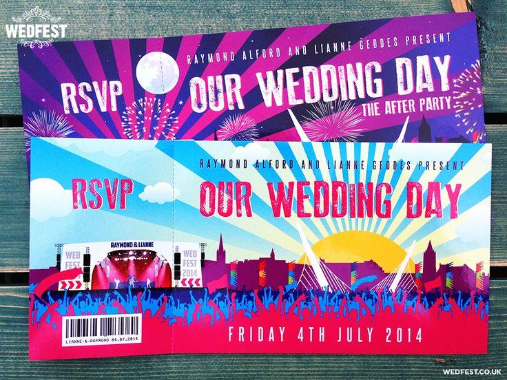 Big Weekend Festival Style Wedding Stationery | WEDFEST http://www.wedfest.co/big-weekend-festival-style-wedding-stationery/