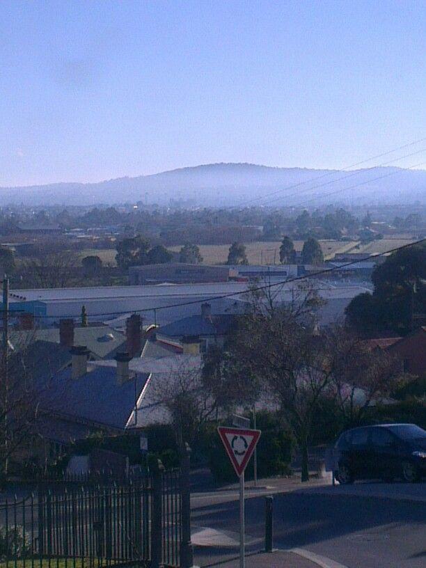The view from the my  Hotel room  window. Launceston, Tasmania.