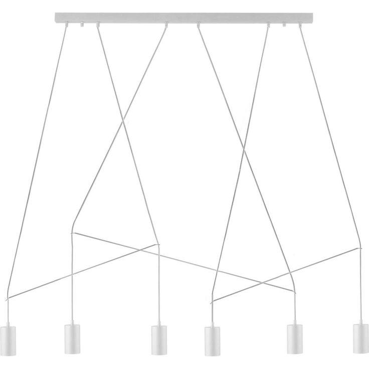 LAMPA wisząca IMBRIA 9674 Nowodvorski metalowa OPRAWA zwis minimalistyczny LISTWA sufitowa pająk spider biały