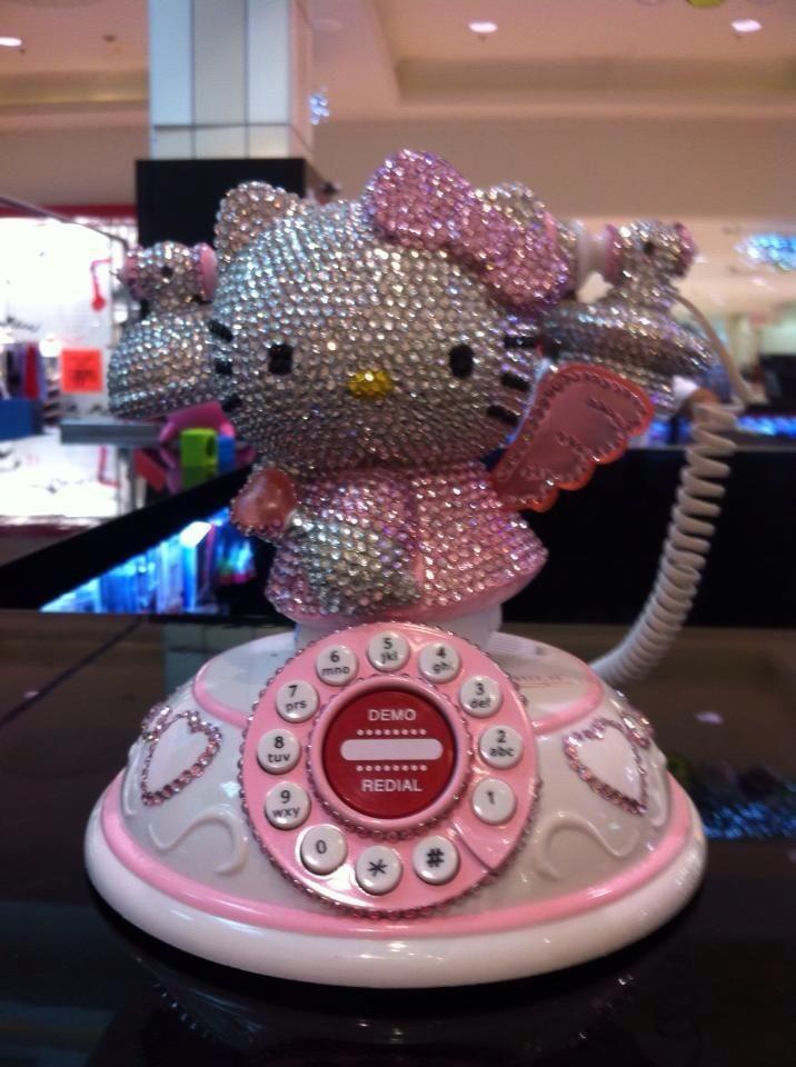 Hello Kitty Bling Modern Rotary Phone