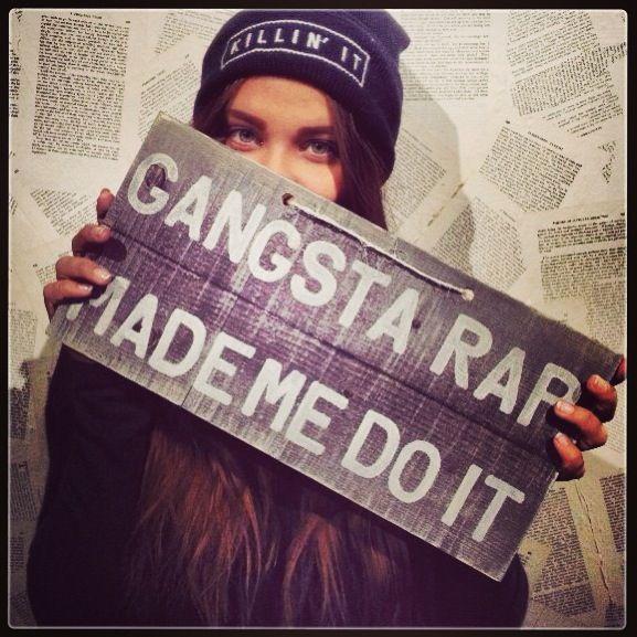 Gangsta Rap Made Me Do It Brandymelville Brandyig Girls