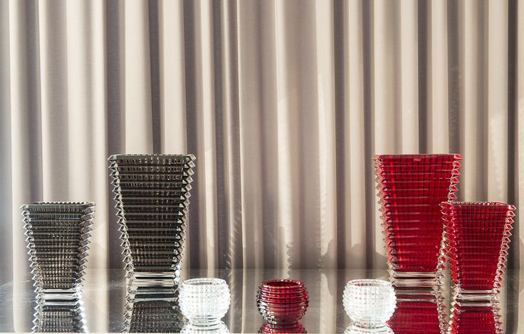 Eye vase and Mille Nuit Voltive by Baccarat