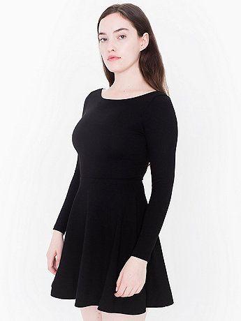 Ponte Long Sleeve Skater Dress