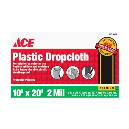filmgard 10ft x 20ft plastic drop cloth ace hardware cover