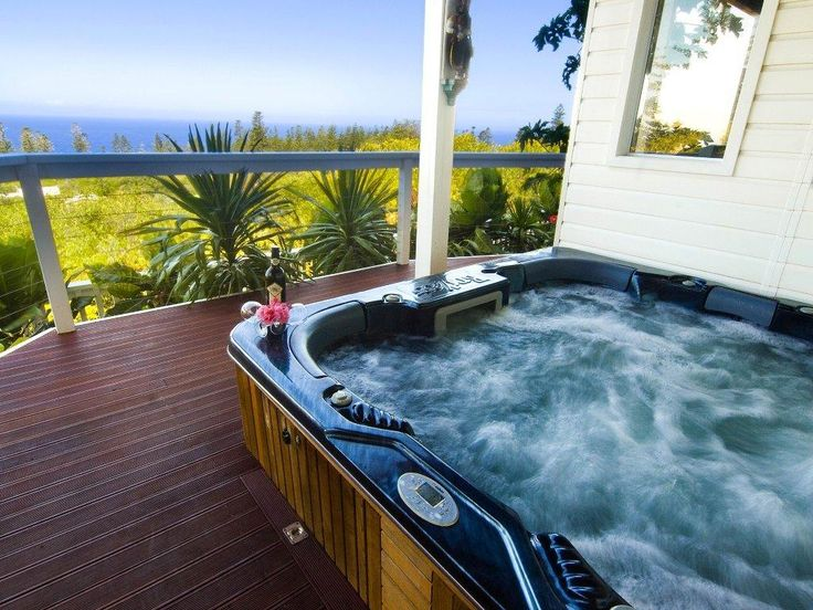 Jacuzzi/Spa with Stunning Views Pamper yourself at The White House Ocean View Spa Villa, Norfolk Island  www.norfolkislandwhitehouse.com