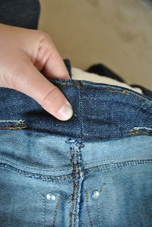 One day I will be crafty and do this...too many big jeans I can't get rid of.