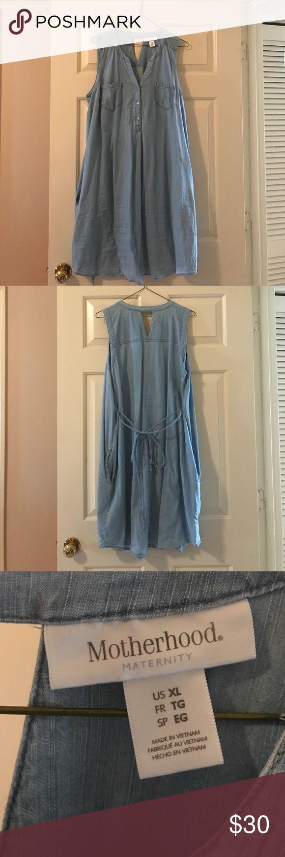 Mer enn 25 bra ideer om denim maternity dresses p pinterest blue denim maternity dress ombrellifo Choice Image