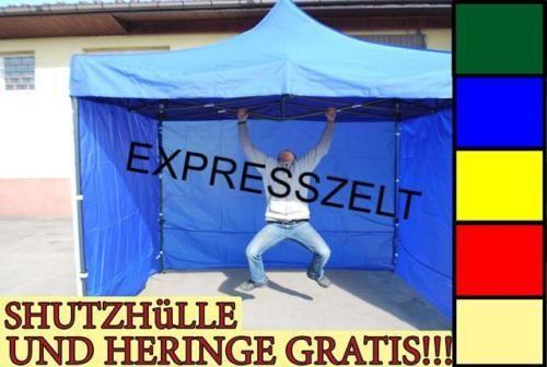STARKE-NEU-ZELT-FALTZELT-MESSESTAND-PAVILLION-VERKAUFSZELT-EXPRESSZELT-GRATIS