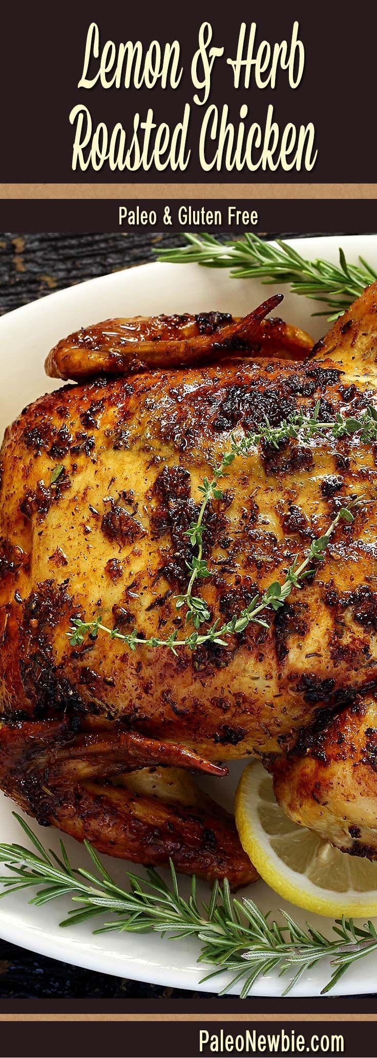 Skillet Chicken Recipe with Garlic Herb Butter Sauce ...