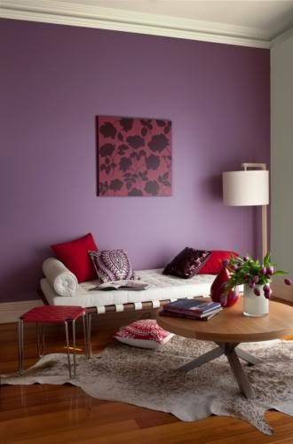 royal purple feature wall #purple fever