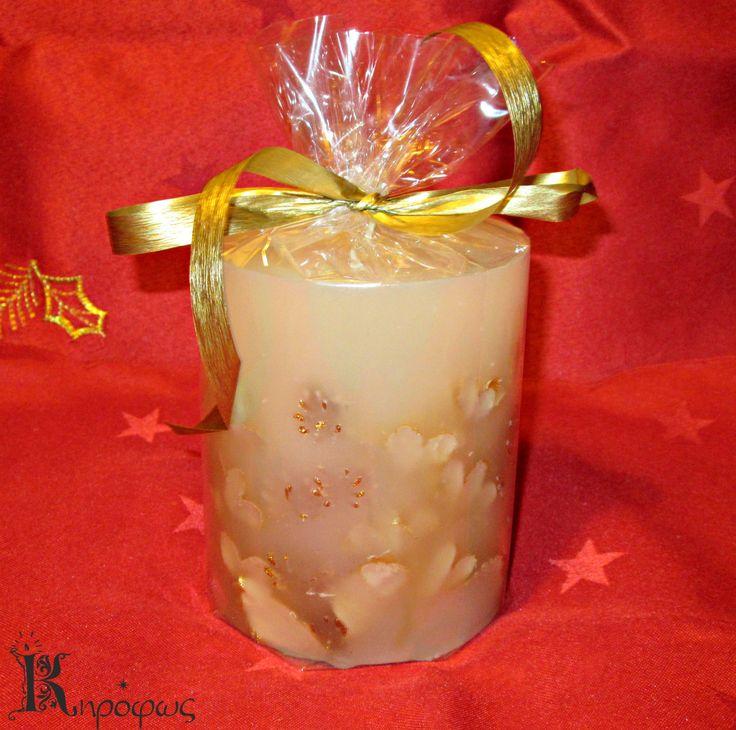 Χριστουγεννιάτικο κερί με άρωμα αχλάδι.
