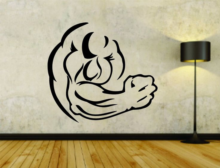 Best Gym  Fitness Wall Stickers Art Decals Images On Pinterest - Vinyl wall decals application instructions