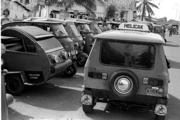 Jakarta in the old days - Helicak (1976)
