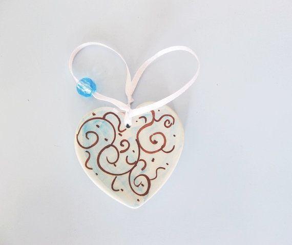 Pastel blue heart Baby shower favor Wedding by IoannasVeryCHic,