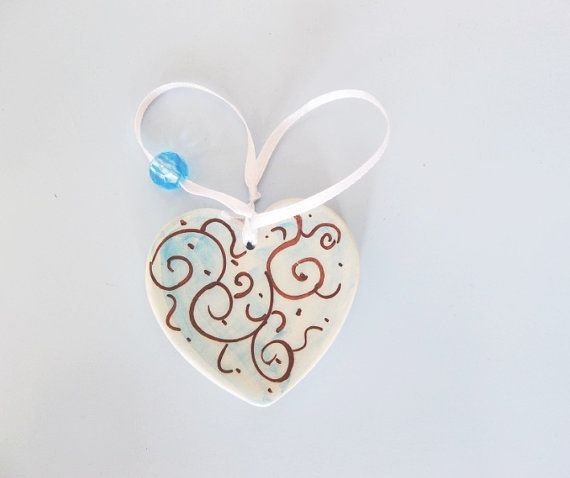 Pastel blue heart Baby shower favor Wedding by IoannasVeryCHic,