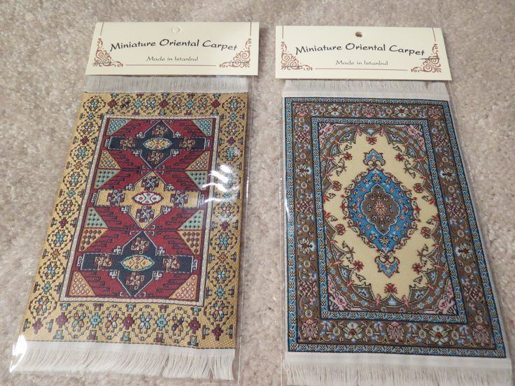 """From left to right are the 4"""" x 6"""" carpets SM5 and SM6."""
