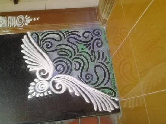 Easy Corner Rangoli Designs