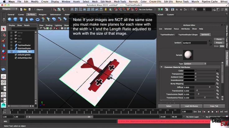 Setting up reference images in Maya for modeling