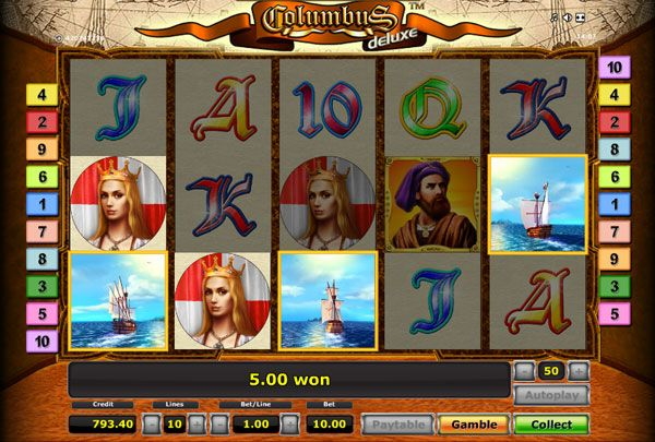 Play Columbus Deluxe slot game.
