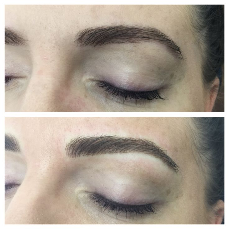 Brow Embroidery - Immediately after first session, building strength in the right places