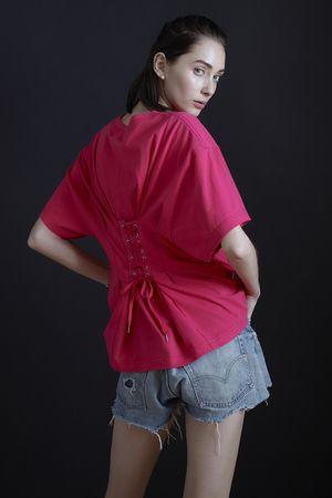 バックレースアップTシャツ シンゾーン/Shinzone