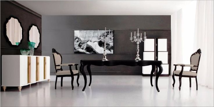 Ethan-Allen-Black-Dining-Table  | Modern Dining Room Designs For The Super Stylish Contemporary Home | http://moderndiningtables.net/ #luxuryfurniture #luxurydesign #bespoke #furnituredesign #diningtable #luxuryfurniture #diningroom #interiordesign #moderndiningtable #diningtableideas #blackdiningtable