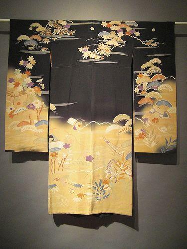 Black and Yellow Kimono