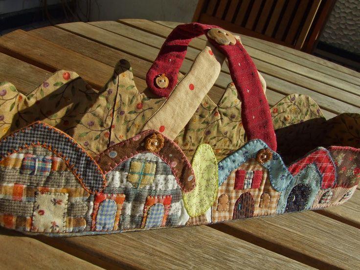 Mi peque o mundo patchwork basket de reiko kato patch - Reiko kato patchwork ...