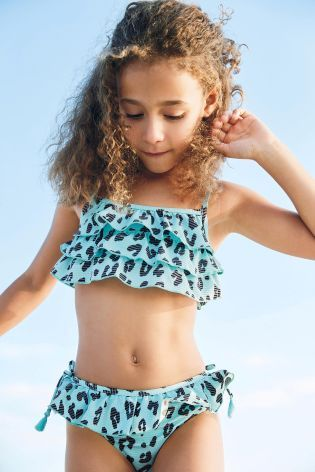 Turquoise Leopard Bikini (3-16yrs)