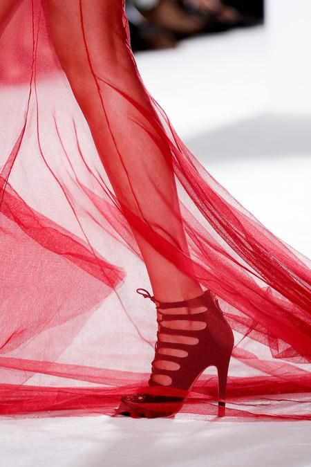 A sheer skirt—all the better to show off your shoes.