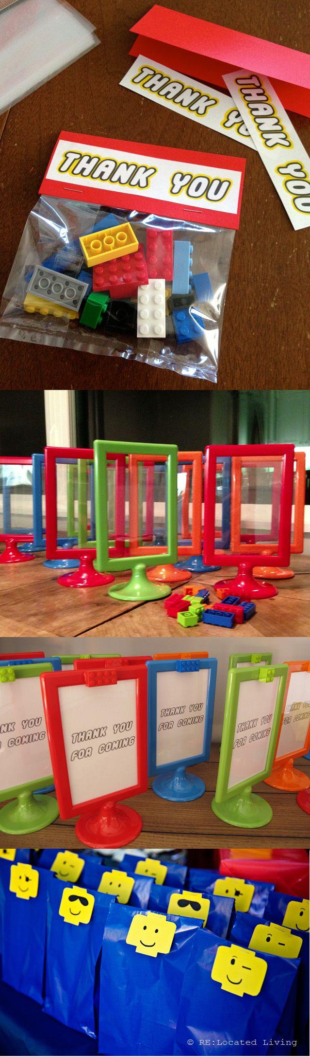 non-candy #DIY #Lego party favors