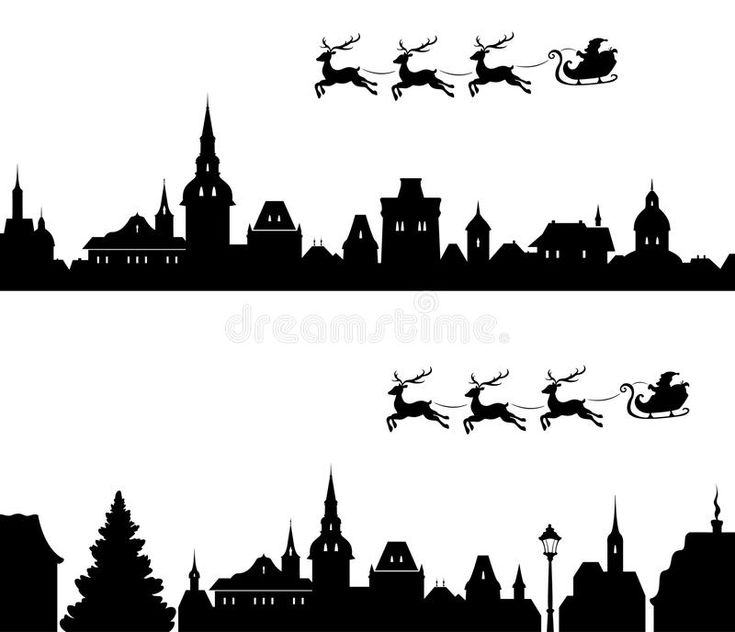 Download Santa Sleigh Silhouette illustration de vecteur. Image du couleur - 45473466