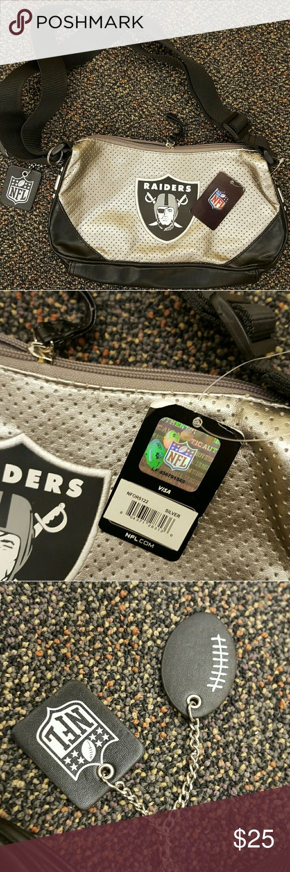 NEW Raiders purse Brand new never used Raiders purse. Perfect for a game or NFL with your friends. :) NFL Bags Shoulder Bags
