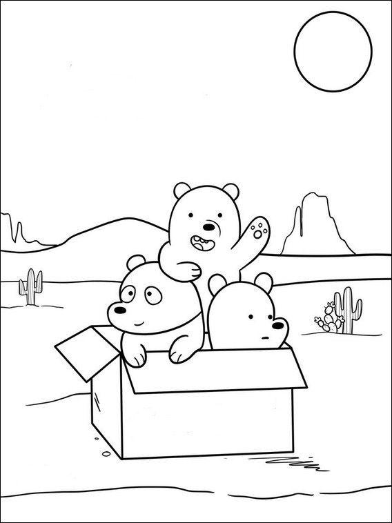 We Bare Bears Coloring 5 Celebrities