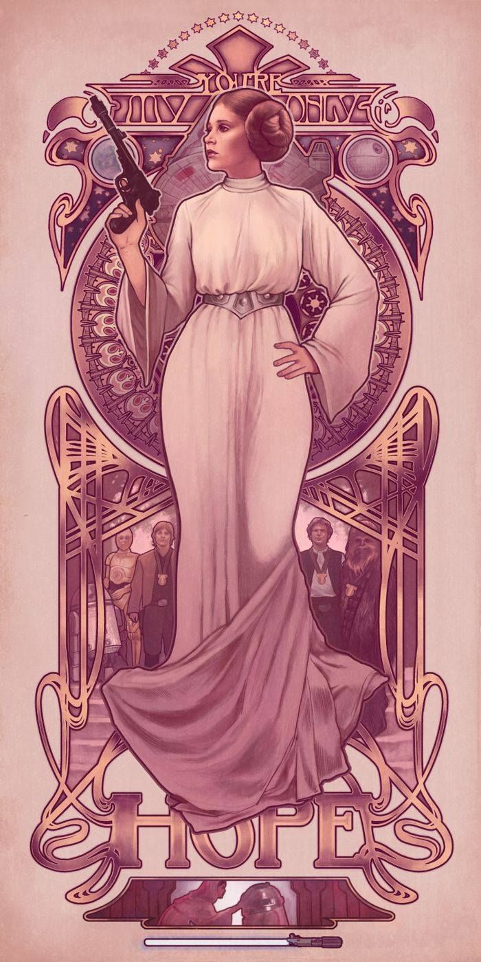 Star Wars: You're My Only Hope – Princess Leia by… – Art Vault