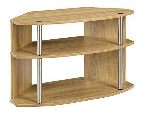 The Designs2Go Swivel TV stand is great for any corner of the home. Featuring three tiers that allow plenty of space for most of your media components from gami...