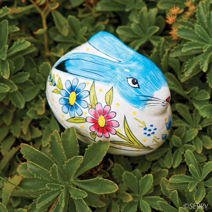 40 best easter gifts and goodies images on pinterest goodies blue easter bunny box hand painted with springtime flowers this papier mch bunny box negle Images